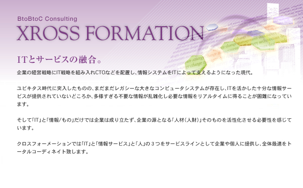 XROSS FORMATION Consulting ITとサービスの融合